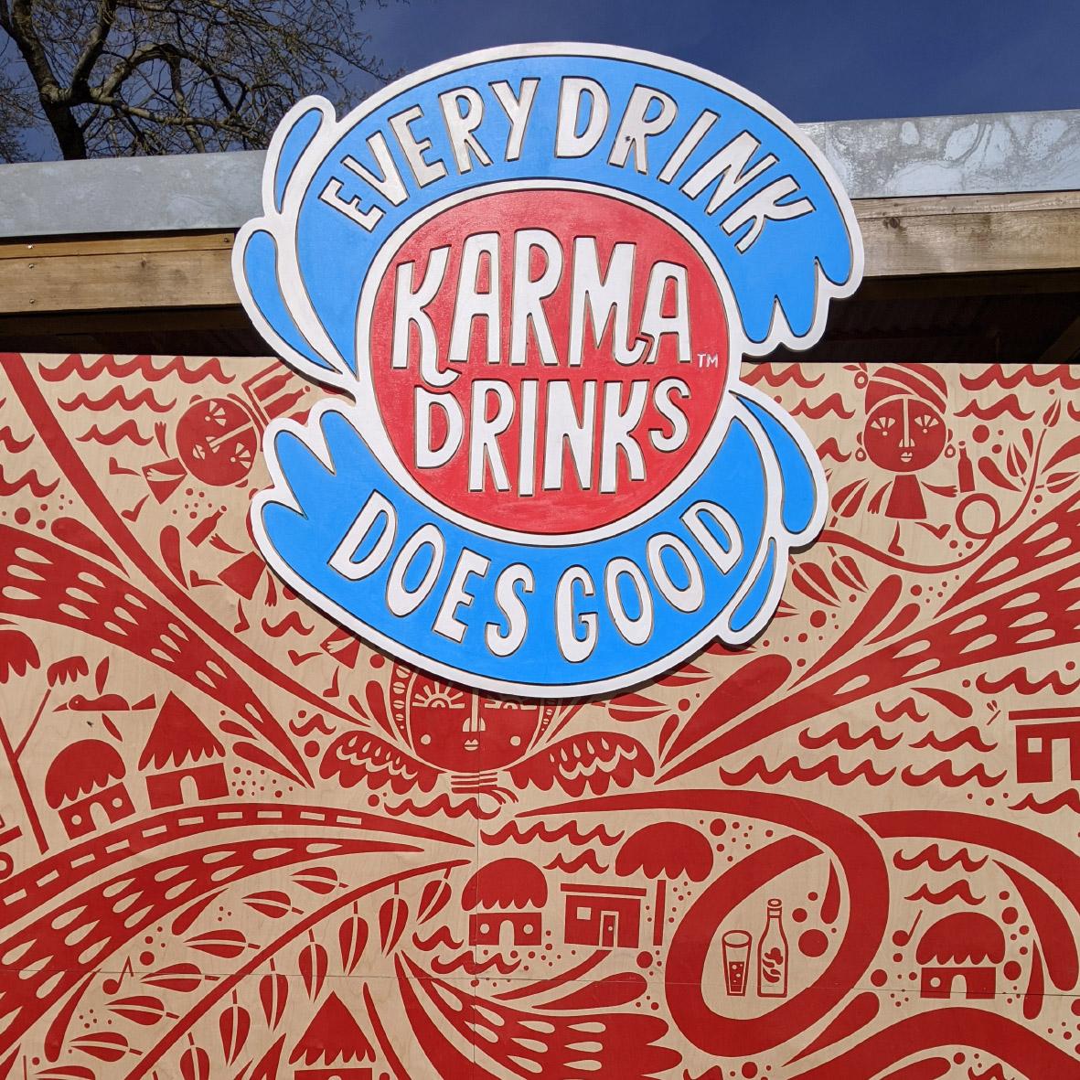 karma drinks stand cnc design